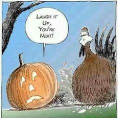 Pumpkin getting even