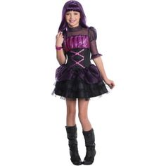 Monster High Elissabat Girls Child Halloween Costume, Size: Small