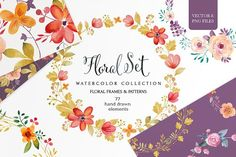Floral set (vector& png files) by SoNice on @creativemarket