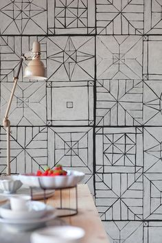 Motif #wallpaper UPSIDEDOWN by Wall&decò | #design Eva Germani @wallanddeco