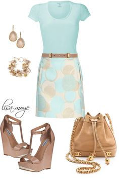 """""""Mint circles"""" by lisa-moye ❤ liked on Polyvore"""