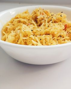 Courge spaghetti carbonara - sans sucre, sans gluten, LCHF - Bibitte à Bouffe