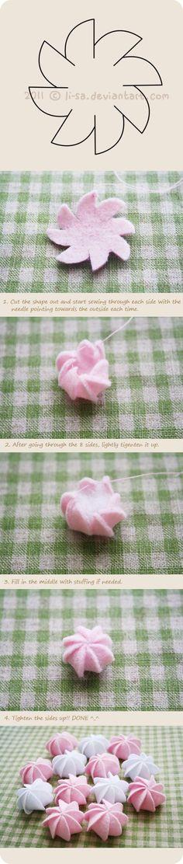 little felt rosette