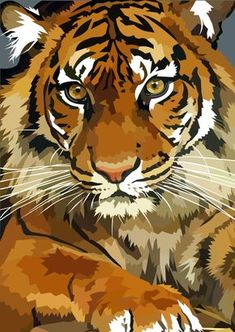 Awesome tiger by elviraNL on DeviantArt - digital drawing of a Tiger