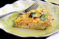 Ham, Broccoli & Sweet Potato Frittata (Paleo/Whole30)