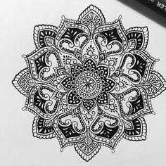 «Mandala for Jennifer Fish Mandala Tattoo Design, Mandala Art, Mandala Arm Tattoo, Henna Mandala, Mandalas Painting, Design Tattoo, Mandalas Drawing, Flower Mandala, Tattoo Designs