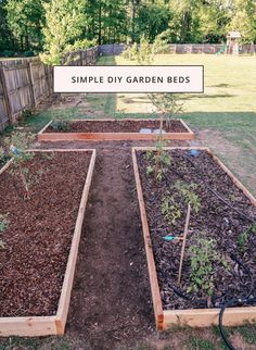 Simple DIY Garden Beds | In Honor Of Design
