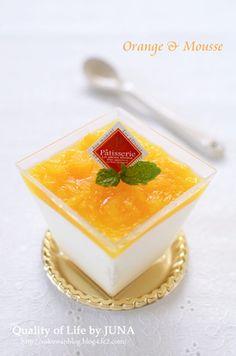 ふわふわヨーグルトムース☆オレンジ風味|レシピブログ