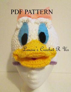 PDF crochet pattern Daisy Duck Inspired hat by Lauriescrochetrus, $4.50