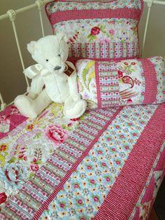 Stella Floral Cotton Cot Quilt
