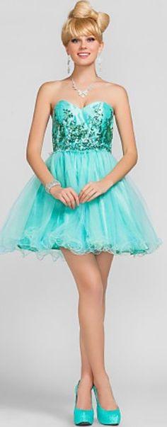 Bright blue prom dress