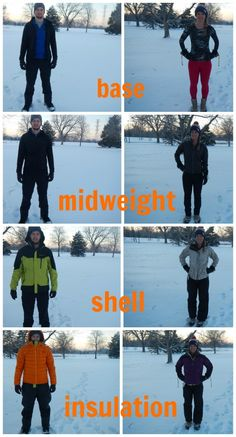 Tips on what layers to pack for a winter backcountry trip, and when to wear them! {via @Lynne {Papermash} {Papermash}}