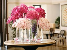 Overflowing orchids at Four Seasons Hotel Istanbul at the Bosphorus.