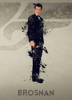 James Bond Pierce Brosnan artwork by art… James Bond Movie Posters, James Bond Movies, Tom Holland, Bond Series, Series Movies, George Lazenby, James Bond Style, Splatter Art, Timothy Dalton