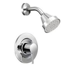 Buy the Moen Chrome Direct. Shop for the Moen Chrome Posi-Temp Pressure Balanced Tub and Shower Trim with GPM Shower Head and Tub Spout from the Align Collection (Less Valve) and save. Tub And Shower Faucets, Shower Valve, Bathtub Faucets, Bath Tub, Thing 1, Gold Chrome, Shower Arm, Attic Shower, Rain Shower