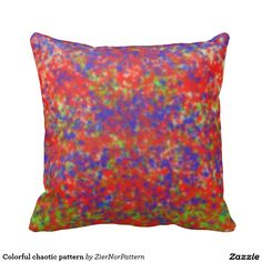 Colorful chaotic pattern pillows