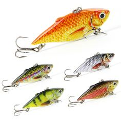 """Mmlong 2.5""""/8.6g New Vib Crankbait Lifelike Fishing Lure High Quality Fishing Bait Slow Sinking Hard Fish Wobbler Pesca Item Imformation For Fishing:Salt water/Freshwater SlowSinking With rattles Item description: A series advanced technology have been used during the production,let this lifelike crankbait has following fuctions and also will bring you more..."""