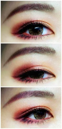 Red eyeshadow makeup. Awesome.