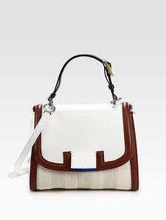 prada beige wicker handbag