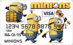 Credit cards with Minions pictures01