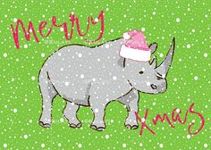 INSTANT DOWNLOAD (no physical items sent) - preppy pink rhino printable Christmas card - perfect for making your own cards, gift tags, invitations, scrapbooks, planner stickers etc. 1 5 x 7 image provided in JPEG format (300 ppi). This item is for personal use only. Any questions just ask! Im here to help. Thanks! Jill Preppy graphic images, Preppy Christmas card, party invite, Preppy Christmas rhino planner stickers, Christmas zrhino clipart, preppy clipart, Preppy Christmas graphics, c...