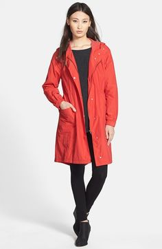 Eileen Fisher Hooded Anorak  Special color and this would be great for cooler weather.
