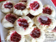 Made It. Ate It. Loved It.: Raspberry & Almond Shortbread Thumbprint Cookies