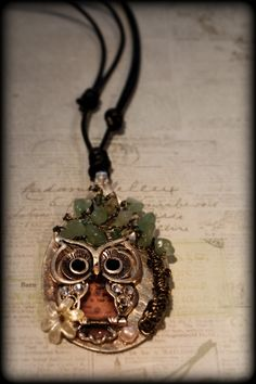 "I'm very Proud of my ""Owl on a spoon"" Pendant"