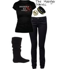 i really like the hunger games so this is what i would wear to a hunger games party lol