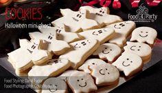 Biscuiti Mini Gost de Halloween | food4party Fondant, Cookies, Halloween, Mini, Desserts, Recipes, Food, Crack Crackers, Tailgate Desserts