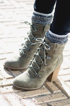 6e6164c6fa24f We love the northwoods-meets-downtown look of these Candie s lace-up ankle