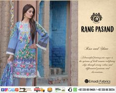 88721a20c5 #Guljee - RANG PASAND DIGITAL PRINT COTTON CAMBRIC EMBROIDERED COLLECTION |  VOL # 05.