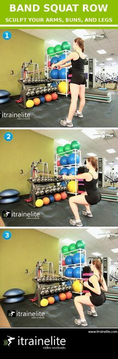 Band Strength and Conditioning Workout: Squat Row