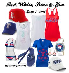 Wear your Rangers Red, White, and Blue this 4th of July. #RangersPinspiration