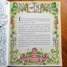 First page in Ivy and the Inky Butterfly by Johanna Basford completed with Staedtler Ergosoft pencils. The pencils are similar to Derwent Artist pencils inhardness. They blend well and it's easy to get a nice smooth texture. I loved colouring this pic. Now to test my other pencils in this lovely book. #inkyivy #ivyandtheinkybutterfly #johannabasford #staedtler