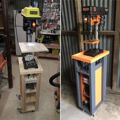 Another great version of my rolling drill press cart by Jose @triplejcustoms. Full plans are available on my site or @build_something. #woodworker #maker #diy #diyproject #shoptools #powertools #ryobination #tutorial #wood #build #buildplans #shopupgrade