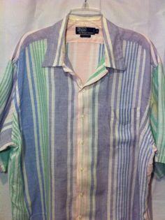 29b94b78bee Polo Ralph Lauren Linen Short Sleeve Button Shirt
