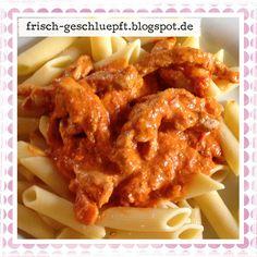 Frisch geschlüpft: Schweinegeschnetzeltes mit Paprika-Tomaten-Sugo #Rezept #Abendessen