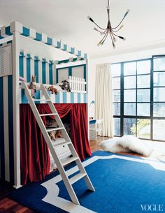 Tabitha Simmons' kids room via Vogue.