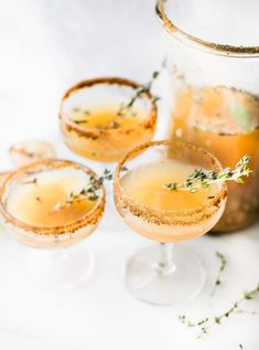 Winnie the Pooh Honey Roasted Pear Sparkling Cocktails & Mocktails! Festive cocktails recipe with simple ingredients; sparkling wine or juice, honey, spices, roasted pear. Drinks Alcohol Recipes, Non Alcoholic Drinks, Yummy Drinks, Cocktail Recipes, Beverages, Drink Recipes, Game Recipes, Honey Recipes, Refreshing Drinks
