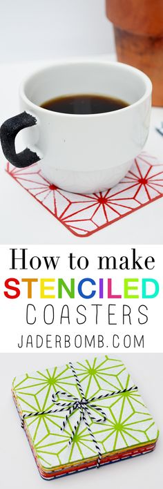 Stenciled coasters project