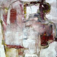 Broken China and Paperdolls by Jeane Myers -  oil and wax on panel, 24x24 www.jeanemyers.com www.jeane-artit.blogspot.com