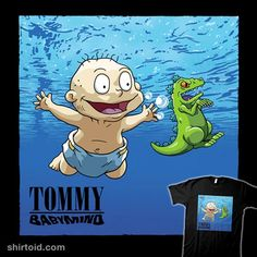 Smells Like Baby Spirit | Shirtoid #angelrotten #music #nevermind #nirvana #reptar #rugrats #tommypickles #tvshow