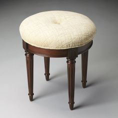 Have to have it. Butler Vanity Stool - Plantation Cherry - $199 @hayneedle