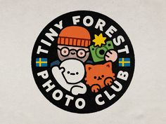 Tiny Forest Photo Club designed by Zhenya Artemjev. Connect with them on Dribbble; the global community for designers and creative professionals. Graphic Design Posters, Graphic Design Inspiration, Branding Design, Logo Design, Club Design, Badge Design, Sticker Design, Cute Art, Illustration Art