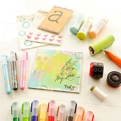 Acrylic Markers: MUST HAVE SOON!  Putting Pen to Paper Projects by Christen Olivarez