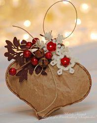 Simple Brown Bag Christmas Ornament