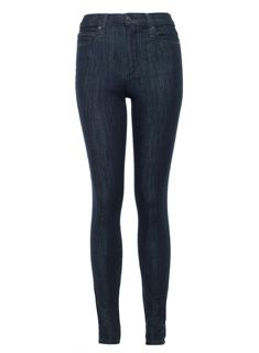 Part of the Fahrenheit Collection, Joe's High Rise Skinny in Chanelle features our new lightweight fabric with state-of-the-art insulation. Carefully engineered hollow-core fibers trap in air to provide exceptional warmth without the weight. A dark blue rinse with localized tint, great recovery, and a rise that elongates the leg and creates shape at the waistline complete this exceptionally flattering jean.
