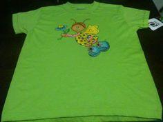 camiseta pintada a mano hada flor