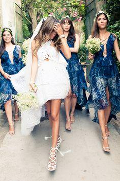 The Stylish Couple's Capri Coastline Wedding Is A Must-See #refinery29  http://www.refinery29.com/2014/07/71521/erica-pelosini-capri-wedding-pictures#slide4